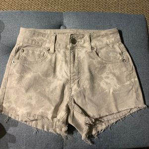 American eagle gray tie dye denim shorts